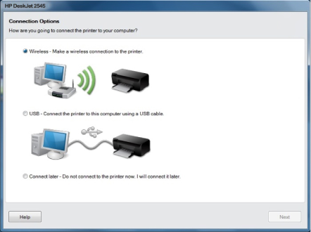 HP Deskjet 2545 wireless setup