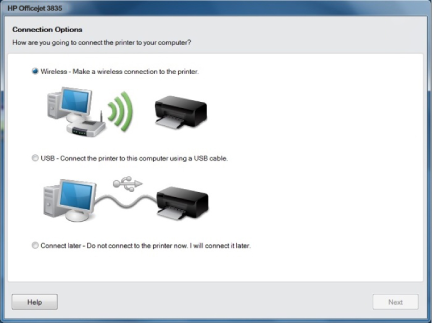 HP OfficeJet 3835 wireless setup