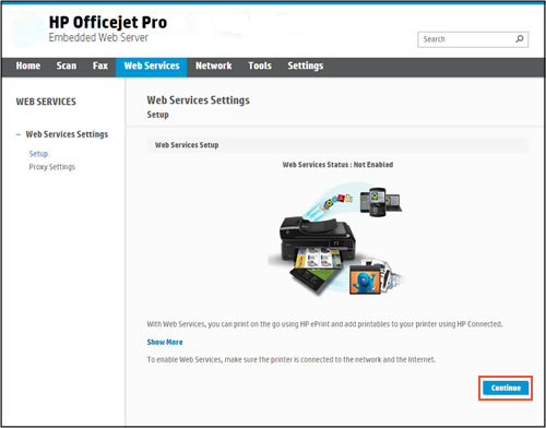 HP Officejet 6954 Mobile Printing