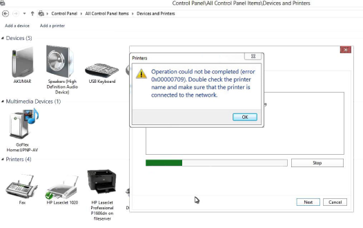 HP Officejet Pro 8725 Won't Print