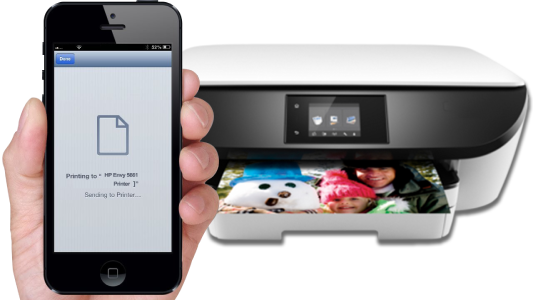 HP Envy 5661 Mobile Printing