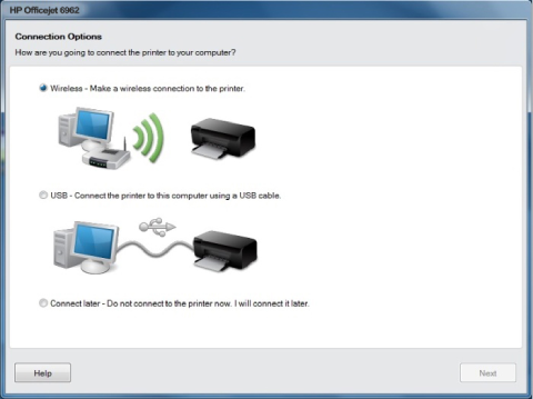 HP Officejet 6962 wireless setup