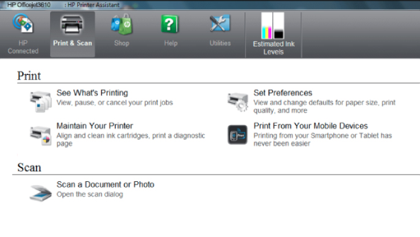 How to scan from HP Officejet Pro 3610